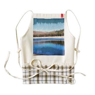 Tranquil lake and wonderful scenery zazzle HEART apron