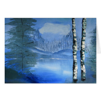 Tranquil Lake Blank Notecard Card