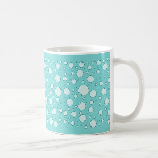 Tranquil Light Turquoise Bubbles Coffee Mug