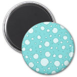 Tranquil Light Turquoise Bubbles Refrigerator Magnet
