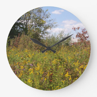 Tranquil Meadow Large Round Wall Clock