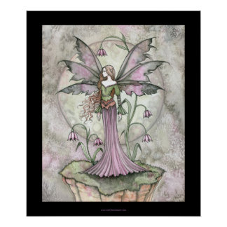 Tranquil Moon Flower Fairy Poster