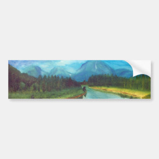Tranquil Mountain Bumper Sticker