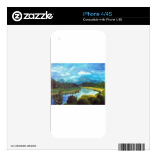 Tranquil Mountain Decals For iPhone 4
