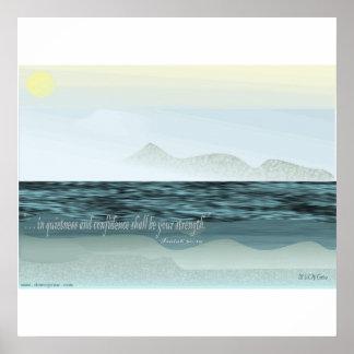 Tranquil Ocean Scene Poster