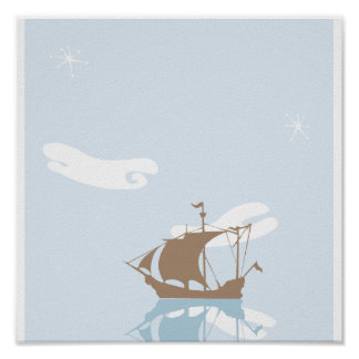 Tranquil Pirate Poster