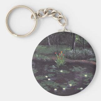 Tranquil Pond Key Chain