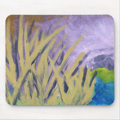 tranquil reeds mouse pad