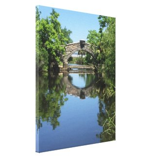 Tranquil Reflection Bridge New Orleans Yacht Club Canvas Print