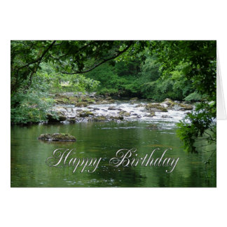 Tranquil river birthday card