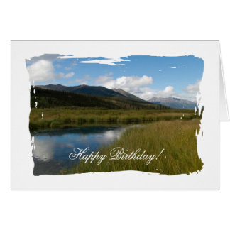 Tranquil River; Happy Birthday Card
