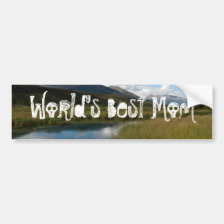 Tranquil River; Happy Mother's Day Bumper Sticker