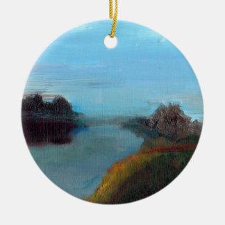 Tranquil River Scene (A Breath along the Severn) Ceramic Ornament