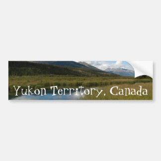 Tranquil River; Yukon Territory Souvenir Bumper Sticker
