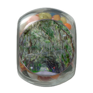 Tranquil Road Glass Candy Jar