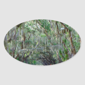 Tranquil Road Oval Sticker