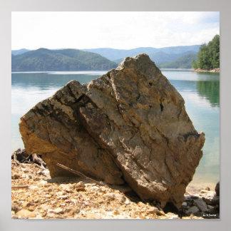 tranquil rock mass poster