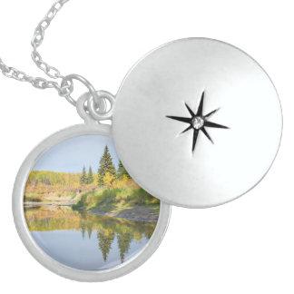 Tranquil Round Locket Necklace