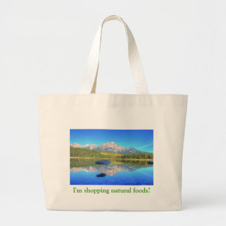 Tranquil Scene at Patricia Lake Large Tote Bag