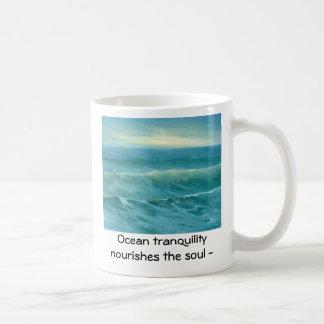 tranquil sea 16x20, Ocean tranquility  nourishe... Coffee Mug
