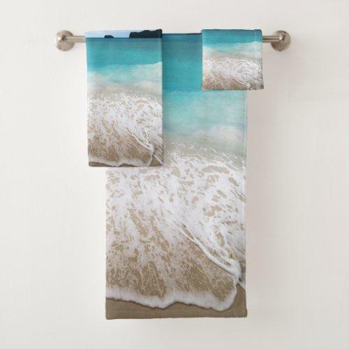 Tranquil Sea Beach Themed Bath Towel Set