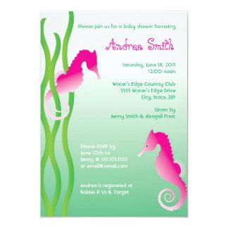 Tranquil Seahorses Baby Shower Invitation 5 x 7