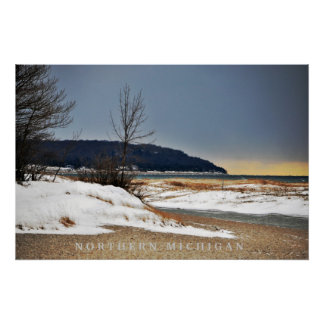 Tranquil Secluded Northern Michigan Beach Print
