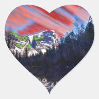 Tranquil skies heart sticker