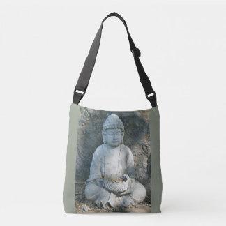 tranquil stone  garden Buddha Crossbody Bag