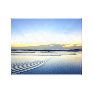 Tranquil sunrise canvas print