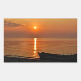 Tranquil Sunrise Rectangular Sticker