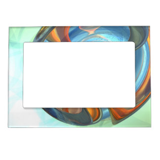 Tranquil Times Abstract Magnetic Photo Frame