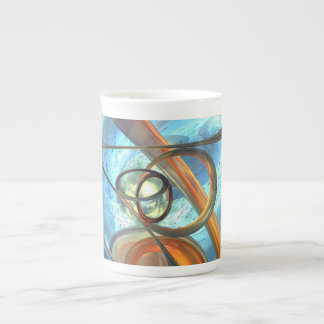 Tranquil Times Abstract Tea Cup