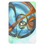 Tranquil Times Abstract Vinyl Magnets