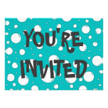 Tranquil Turquoise Bubbles Invitations