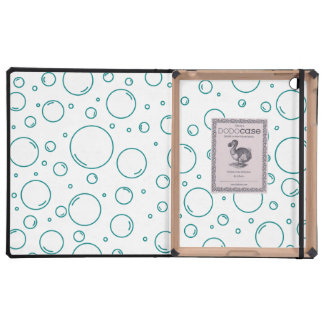 Tranquil Turquoise Bubbles iPad Covers