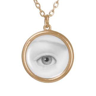 tranquil vision round pendant necklace
