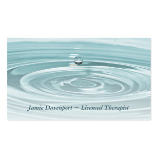 Tranquil Waterdrop Business Card