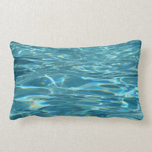 Tranquil Waters Lumbar Throw Pillow