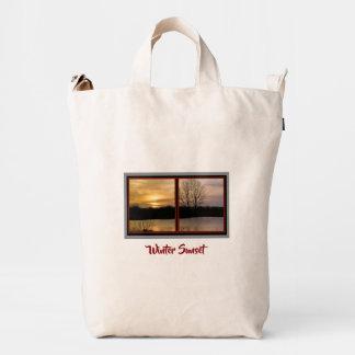 Tranquil Winter Sunset Baggu Duck Bag
