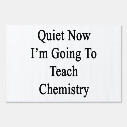 Tranquilidad ahora voy a enseñar a química