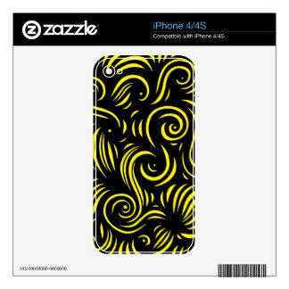 Tranquilidad atractiva del sí agudo skins para iPhone 4S