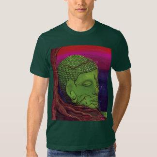 Tranquilidad de Akward con la impresión trasera Camisas