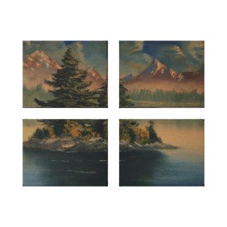 Tranquilidad de la orilla del lago impresion de lienzo