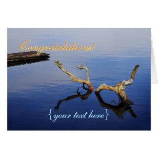 Tranquilidad del extracto del borde del lago - tarjeta de felicitación