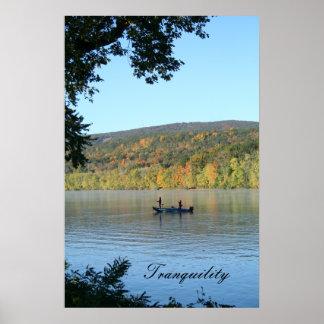 Tranquilidad en el río impresiones