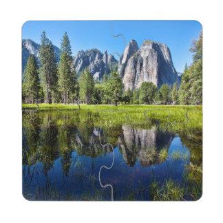Tranquilidad en Yosemite Posavasos De Puzzle