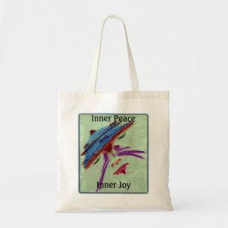 Tranquilidad interna de la paz y de la alegría bolsas lienzo