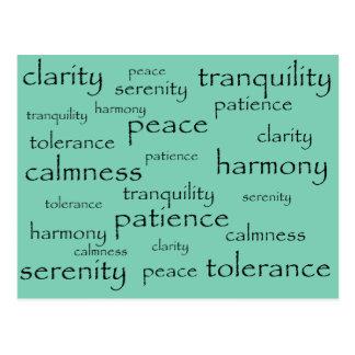 tranquilidad, paz, armonía tarjeta postal