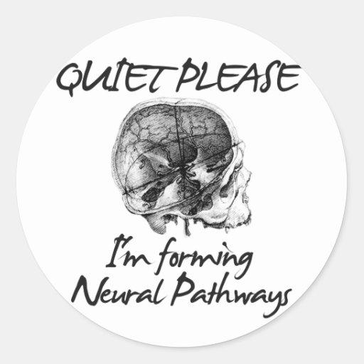 Tranquilidad por favor: Estoy formando caminos de  Pegatina Redonda